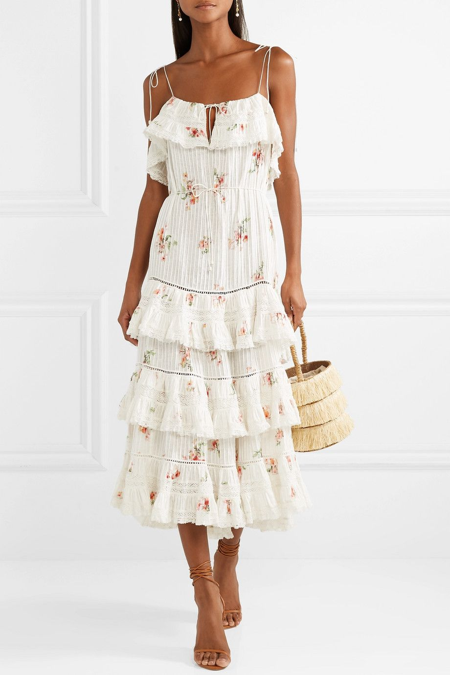 8220137bbaf Zimmermann   Heathers lace-trimmed tiered pintucked floral-print  cotton-voile dress   NET-A-PORTER.COM