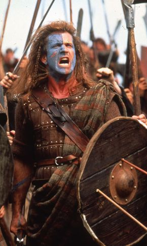 William Wallace Braveheart Blue Face Paint Front 3 4 Battle Mel Gibson Braveheart William Wallace
