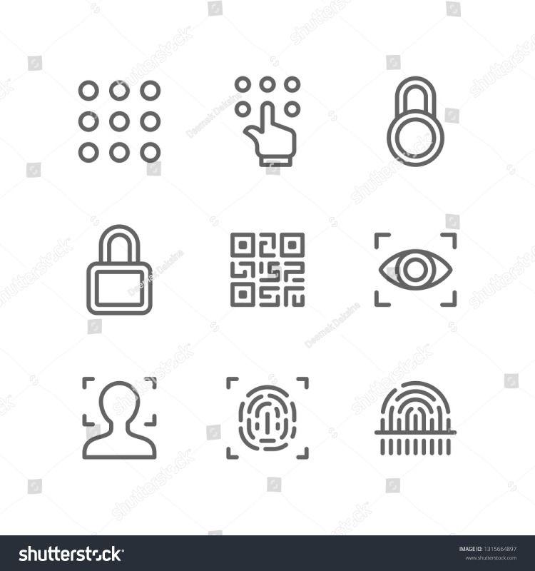 Security Icon Set Icon Set Icon Color Pencil Illustration