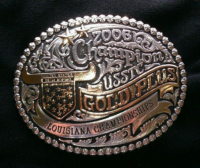 Ustrc Usstc Gold Plus Gist Trophy Rodeo Champion Cowboy