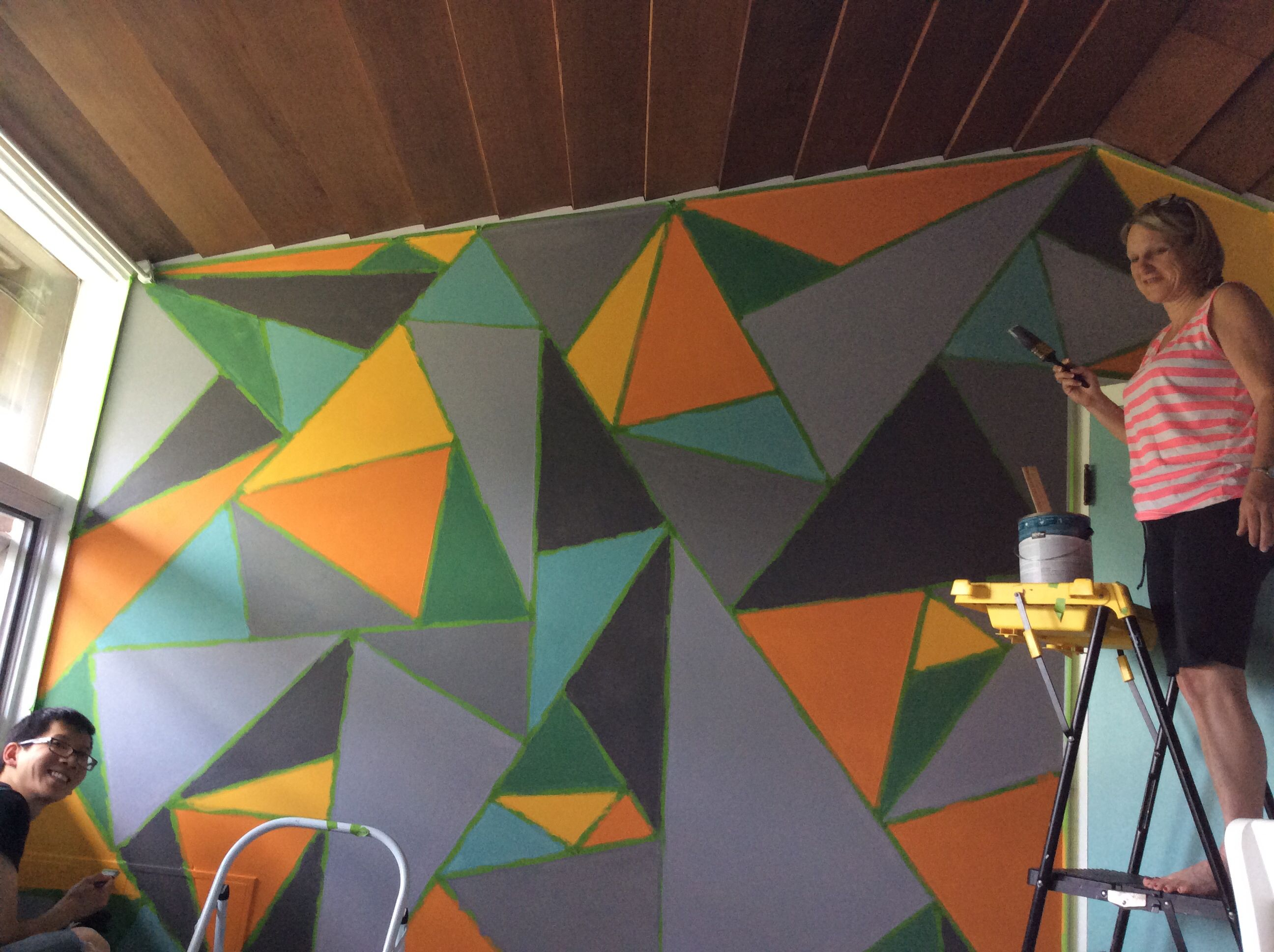 Before Tape Is Removed Triangle Wall Youth Ministry