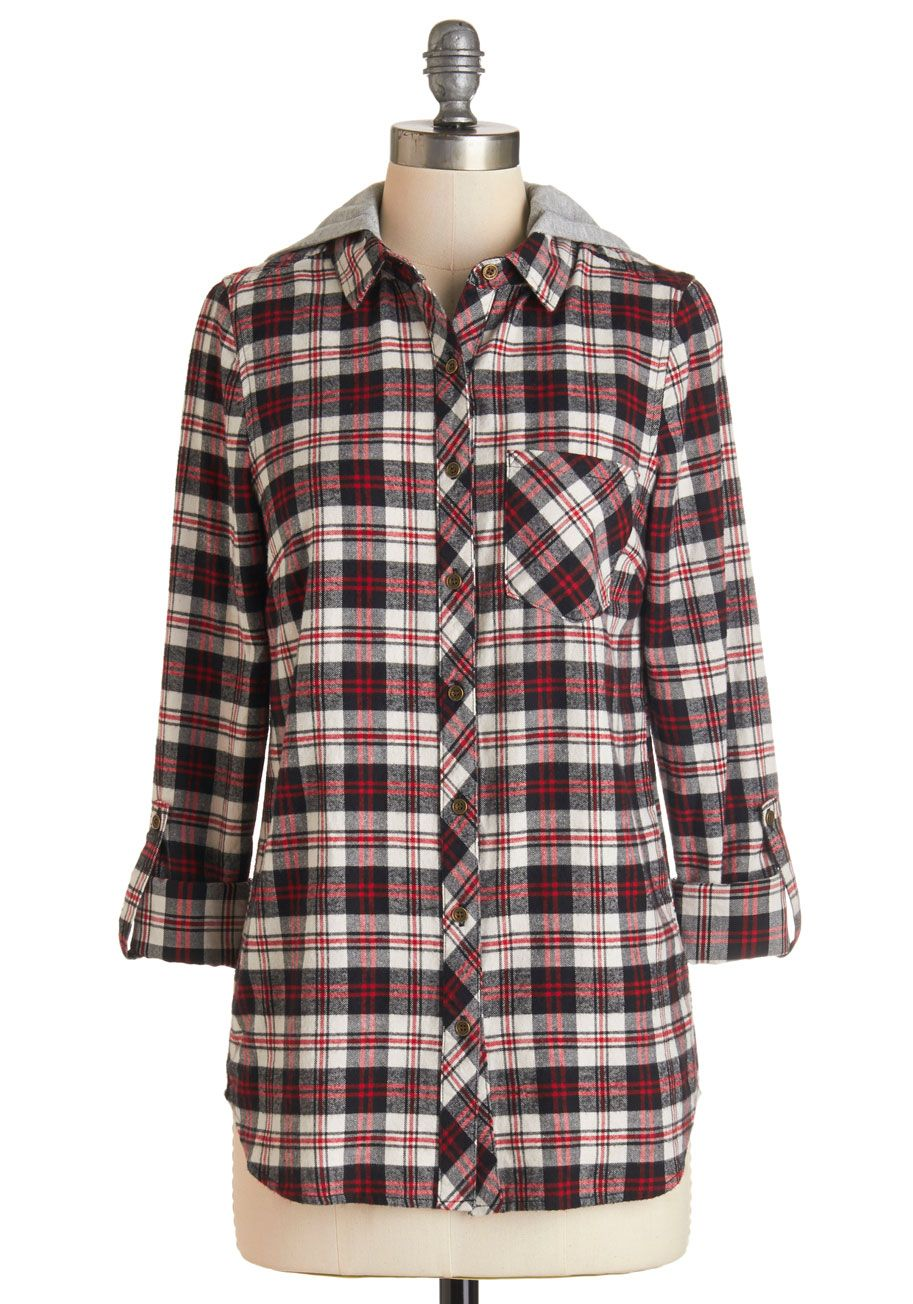 Retro flannel shirts  Layer Up Top ModCloth  fashionista  Pinterest  ModCloth Plaid