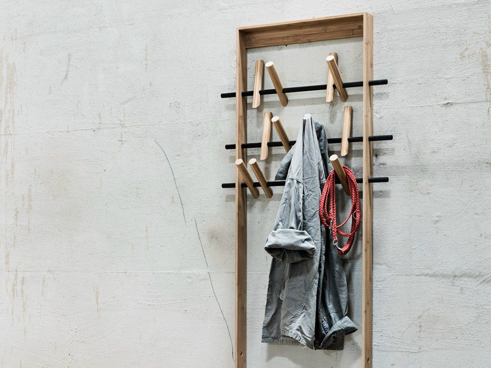 Coat Frame By Sebastian Jørgensen For We Do Wood Wood Design Wall Mounted Coat Rack Bamboo Frame