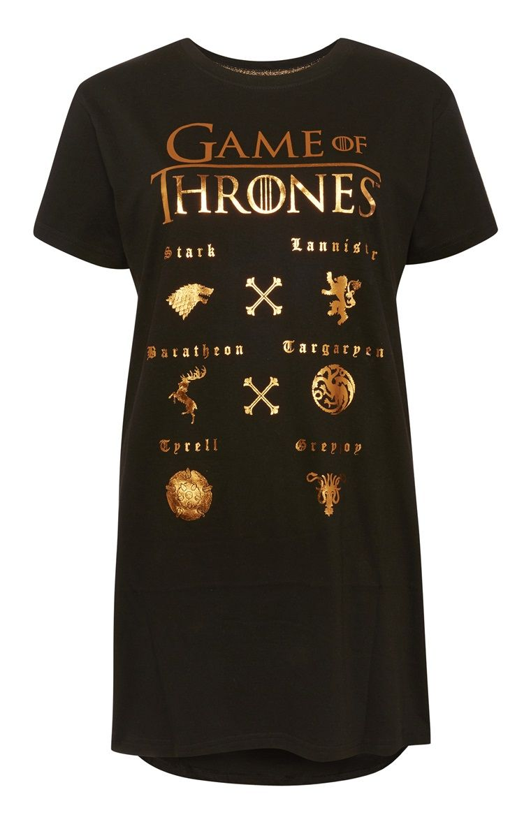 08cdce62 Primark - Game Of Thrones Long Pyjama Top | Tees and Tanks in 2019 ...