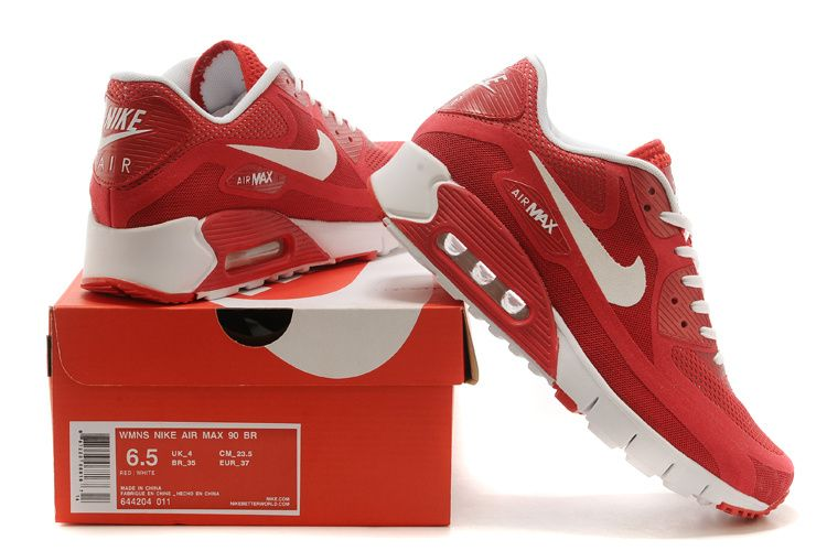 Nike Air Max Breathe 90 Men Shoes Red / White