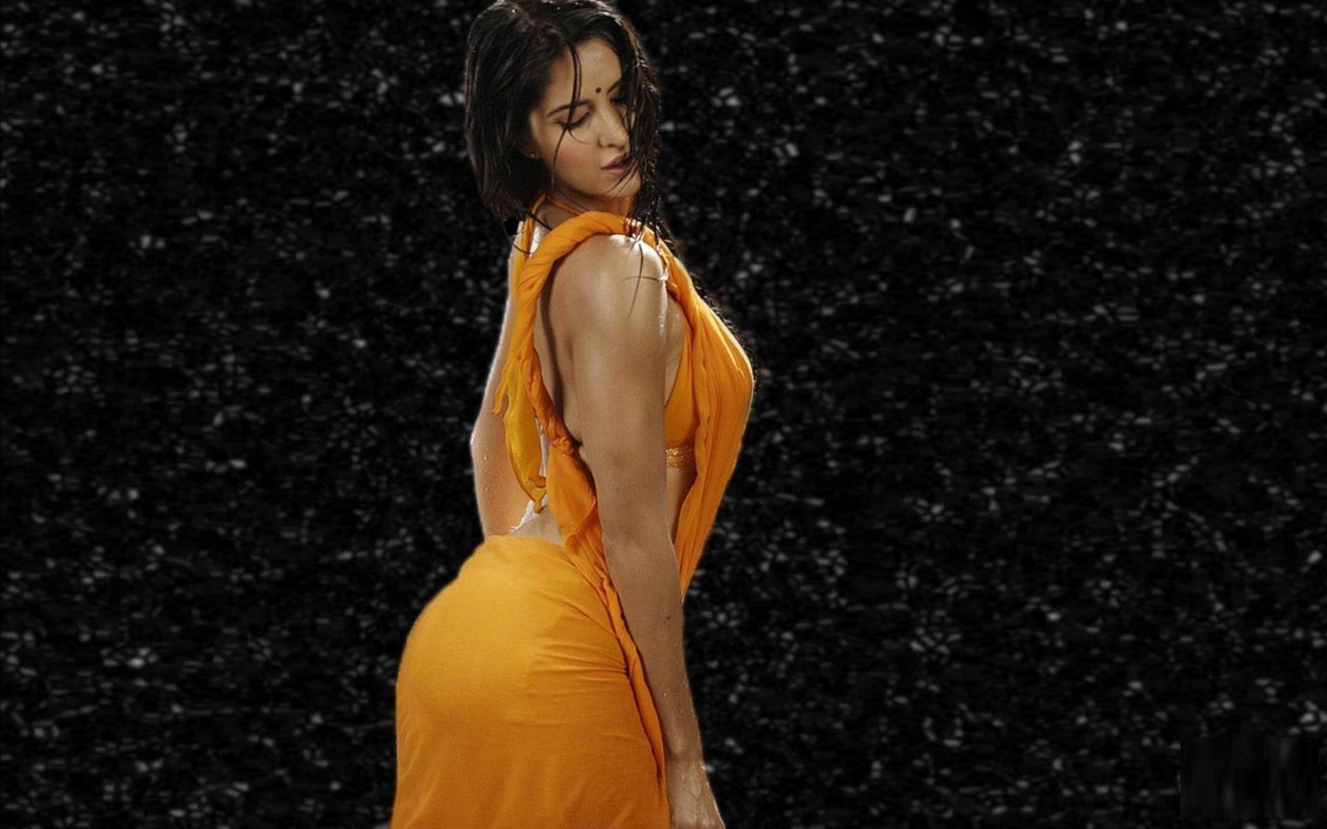 Katrina in hot orange saree