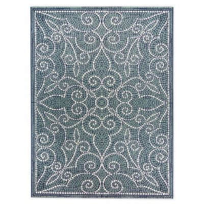 Destination Summer Miami Mosaic 6 X 9 Woven Area Rug In Blue Indoor Outdoor Area Rugs Mosaic Tiles Outdoor Area Rugs