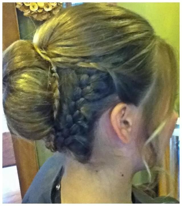 Prom updo with braids-hair by Brittany Chich