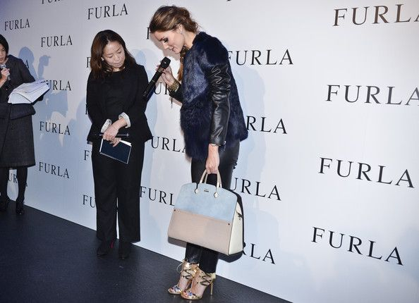 Olivia Palermo attends Furla Spring/Summer 2014 Collection Party at the Gallery of Horyuji Treasures of the Tokyo National Museum on Novembe...