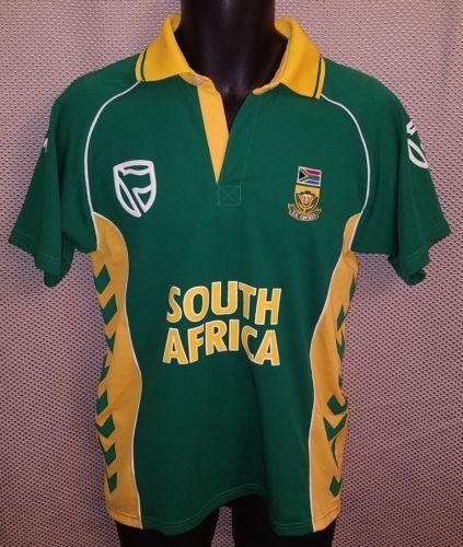 1d87545e South Africa Green Hummel Cricket Home Jersey Vgc - Mens Small (11/12)