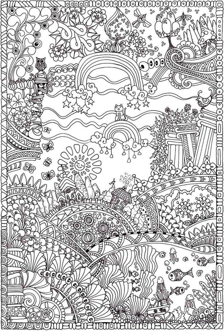 Insanely Intricate Entangled Landscapes Coloring Page3 ...
