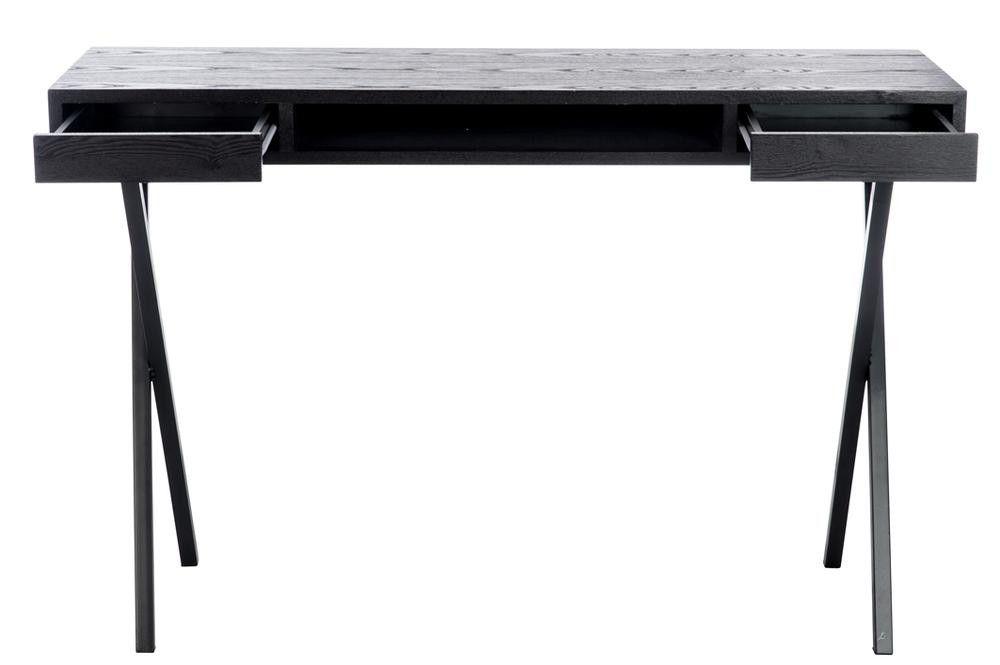 Bureau moderne rectangulaire tiroirs bois noir cm