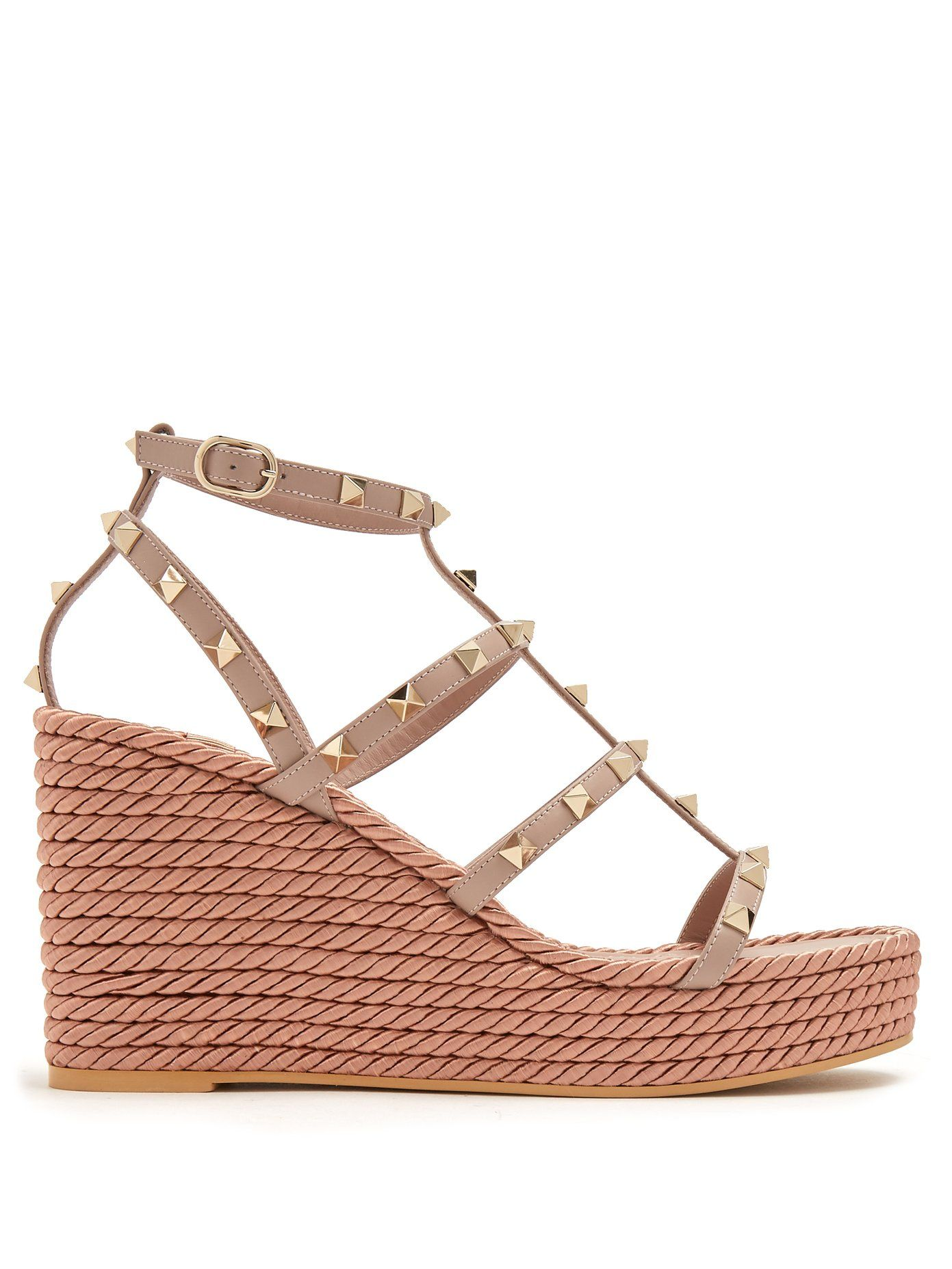 54f9ec16a Click here to buy Valentino Torchon Rockstud leather wedge sandals at  MATCHESFASHION.COM