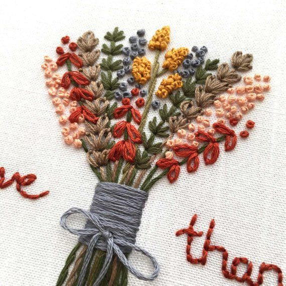 Photo of Thanksgiving hand embroidery design by And Other Adventures | DIY Hoop Art, give … …