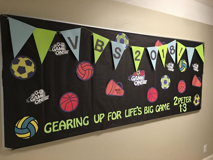 VBS Promotion: Lifeway VBS 2018 Game On Bulletin Board Idea | 2018