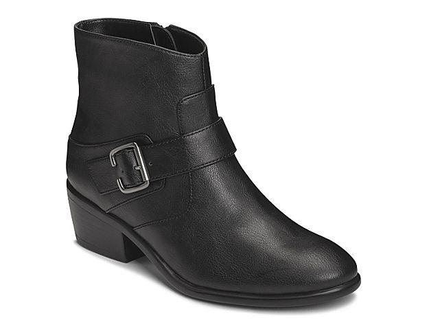 Women My Way Bootie -Black Faux Leather