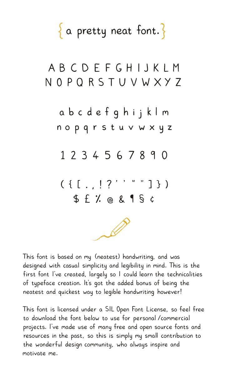 pretty neat free font | free fonts | pinterest | fonts, handwriting
