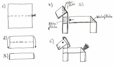 Pferd falten ideen rund ums haus pferde pferde for Projekte im kindergarten herbst