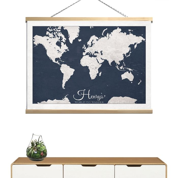 50x70 custom world to wander kids canvas wall banner print world 50x70 custom world to wander kids canvas wall banner print world map gumiabroncs Image collections