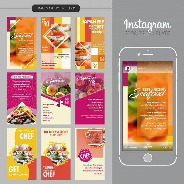 Freepik Graphic Resources For Everyone Instagram Food Instagram Story Template Food Web Design