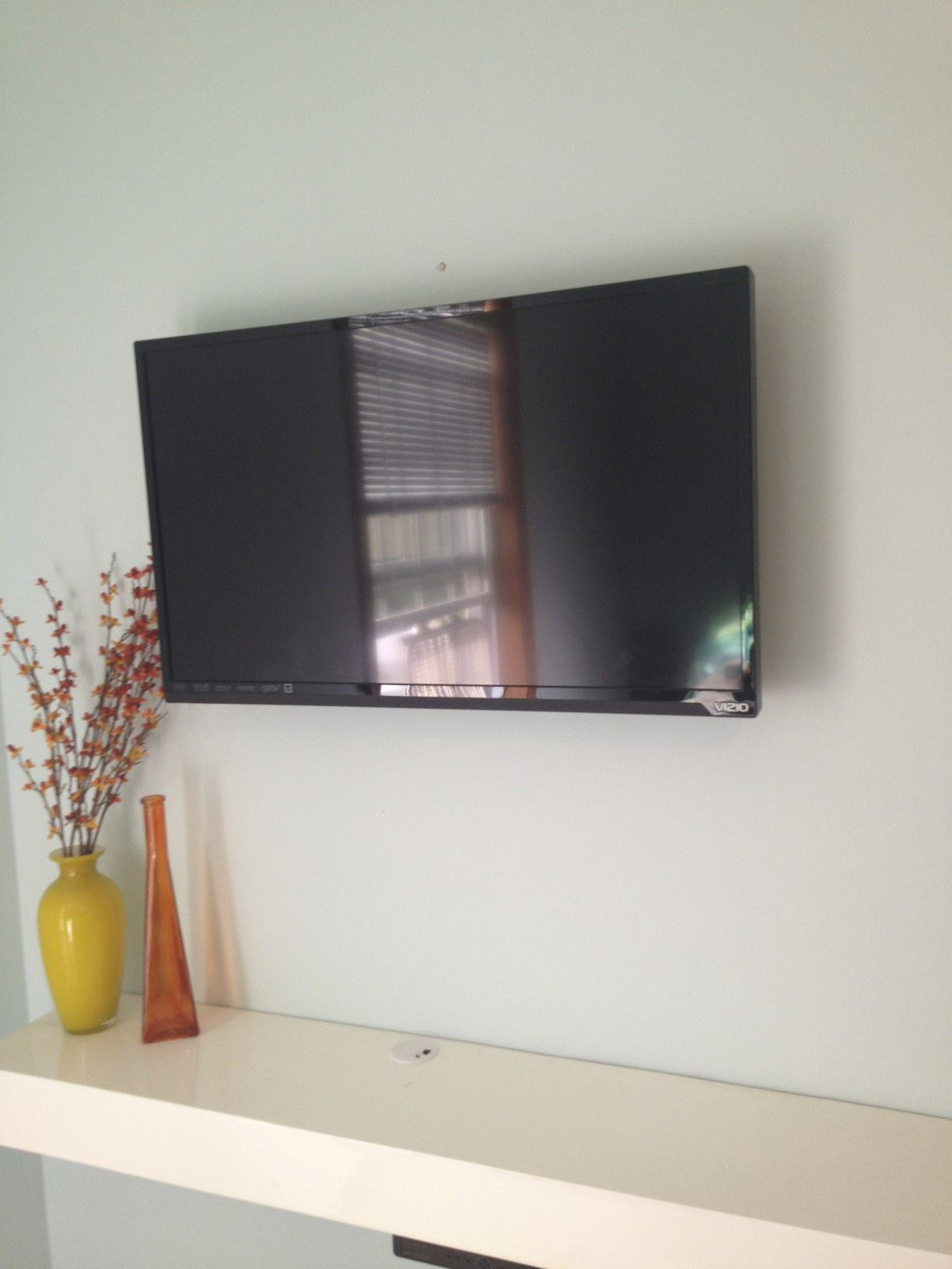 Wall Mounted Television: Hiding Cords | Do It Yourself | Pinterest ...