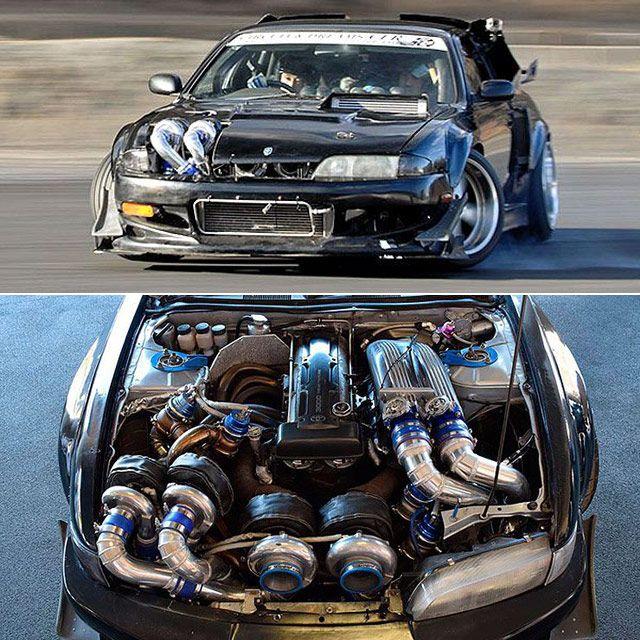 ridiculous quad turbo 2jz s14 nissan silvia the definition of rh pinterest com