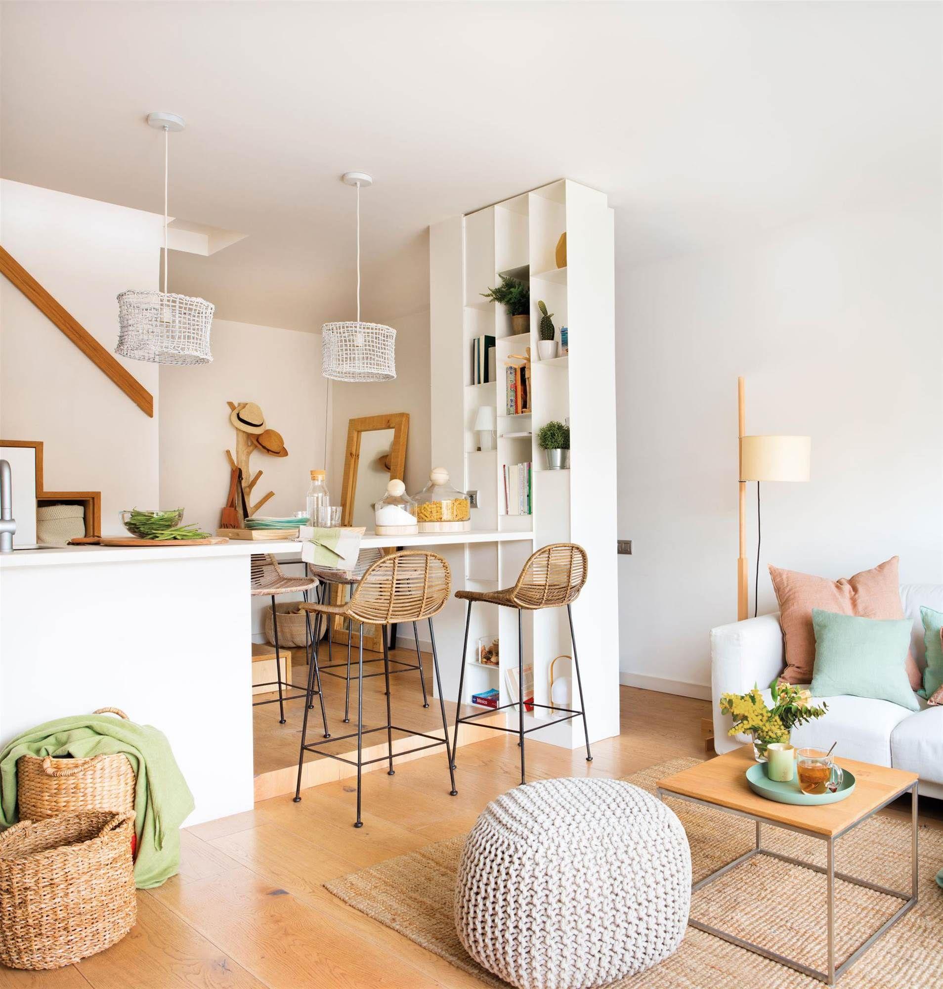 19 salones pequeños que no lo parecen  Cocinas abiertas al