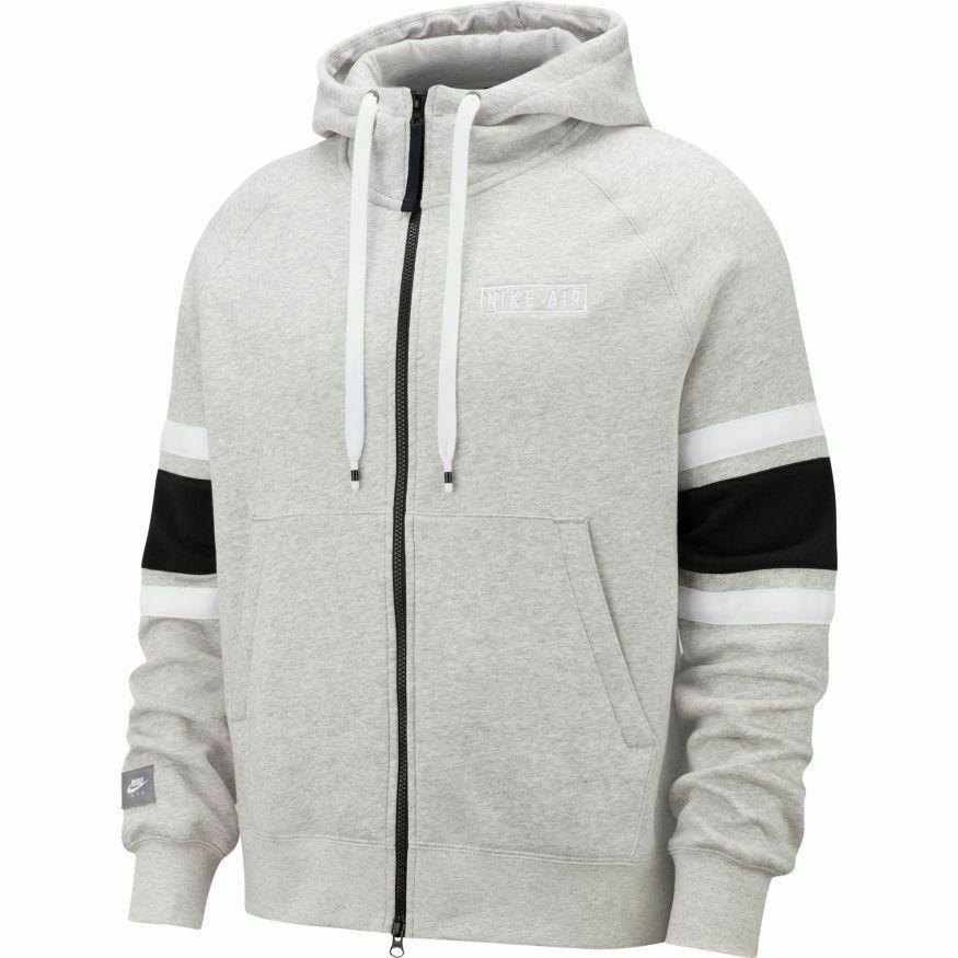 Nike Nsw Hoodie Fleece Air Mens Jacket Hoodie Grey Size S Sportswear Pullover Nike In 2020 Nike Outfits Mens Nike Air Grey Hoodie
