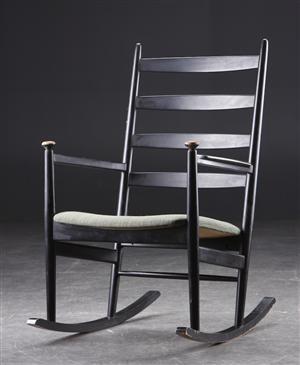Svensk Gyngestol Sortmalet Tr 230 Rocking Chair Chair