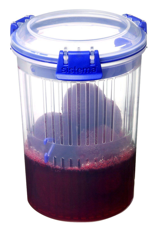 Sistema Klip It Round Container, 1 Litre Amazon.co.uk