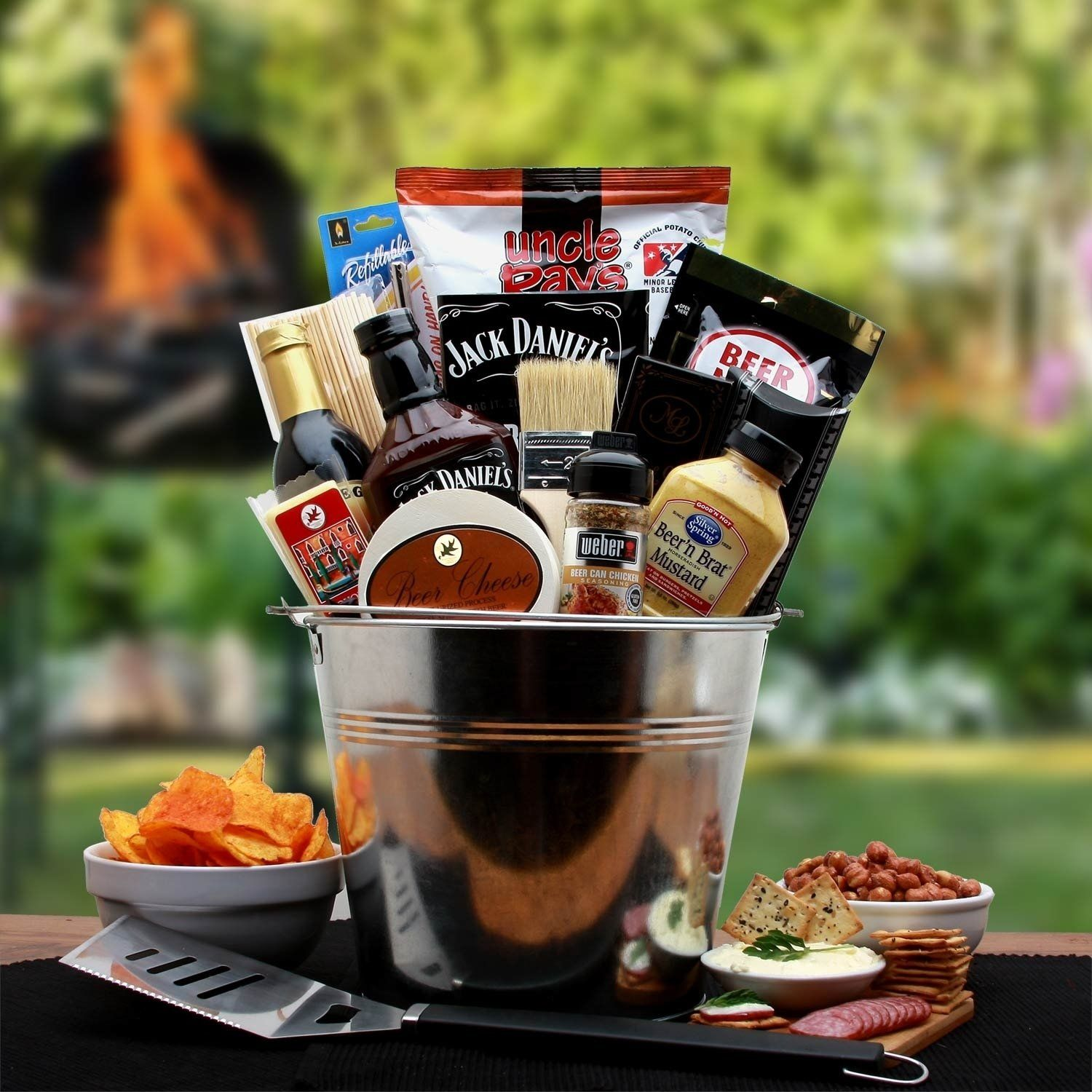 Bbq Lovers Gift Pail Grey Grilling Gifts Bbq Gifts Corporate Gifts