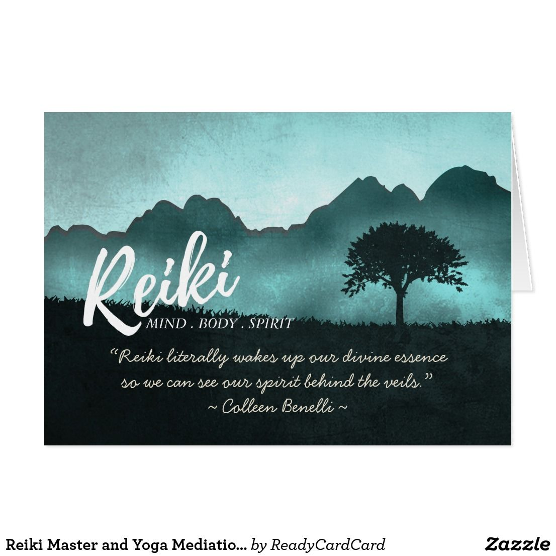Reiki Master and Yoga Mediation Instructor Quotes Card | Yoga
