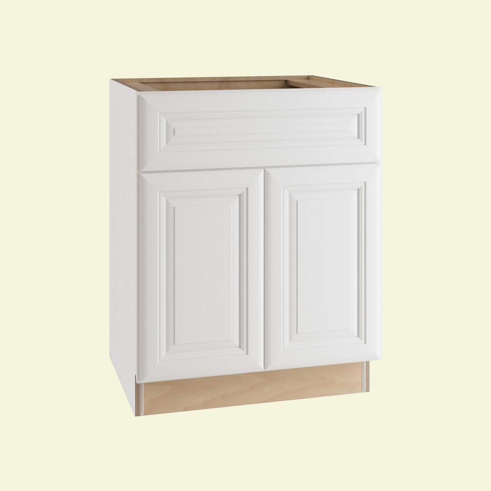 Home Decorators Collection Brookfield Assembled 27x34 5x24 In Plywood Mitered Sink Base Kitchen Cabinet Soft Close Doors In Painted Pacific White Sb27 Bpw Th Base Cabinets Kitchen Cabinet Drawers Online Kitchen Design