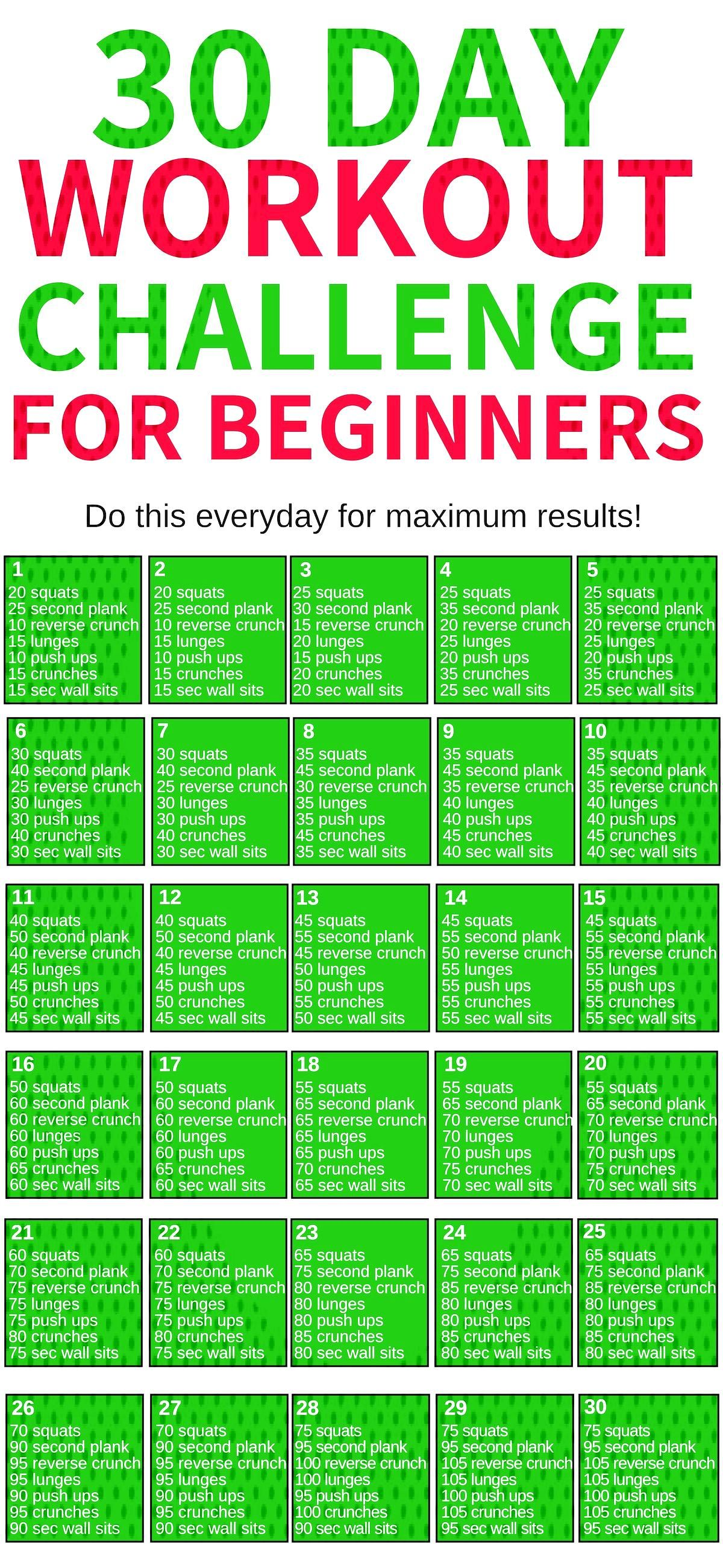 This 30 day workout challenge for beginners is THE BEST! Im so glad I found this awesome workout c