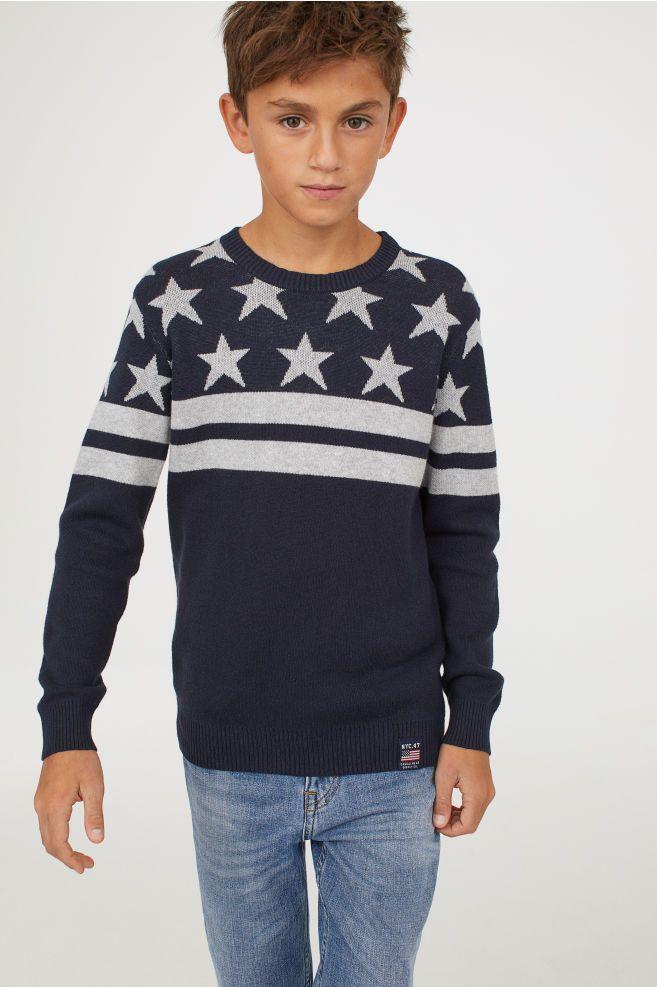 Jacquard Knit Sweater Boys Fashion Boys Clothing
