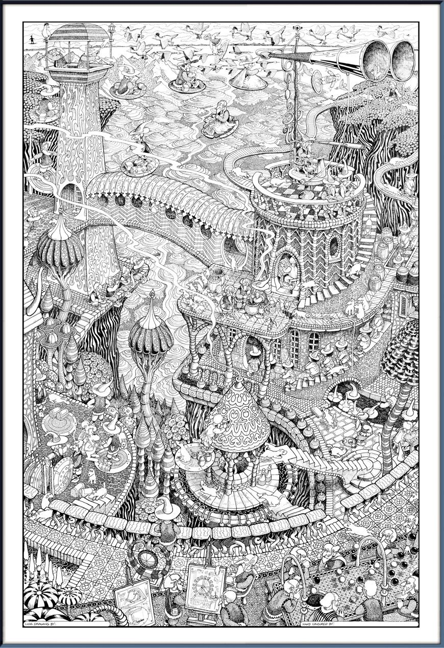 Felt Coloring Posters Coloring Pages Adult Coloring