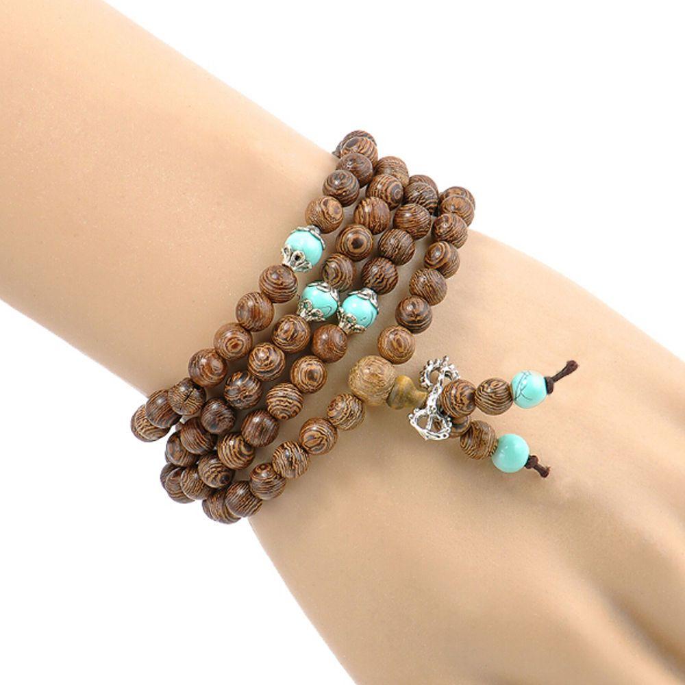 Mm buddhist bracelet rosary meditation prayer buddha necklace