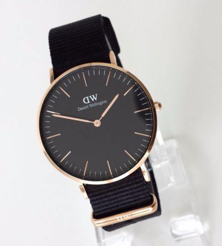 daniel wellington classic black cornwall damen uhr schwarz. Black Bedroom Furniture Sets. Home Design Ideas