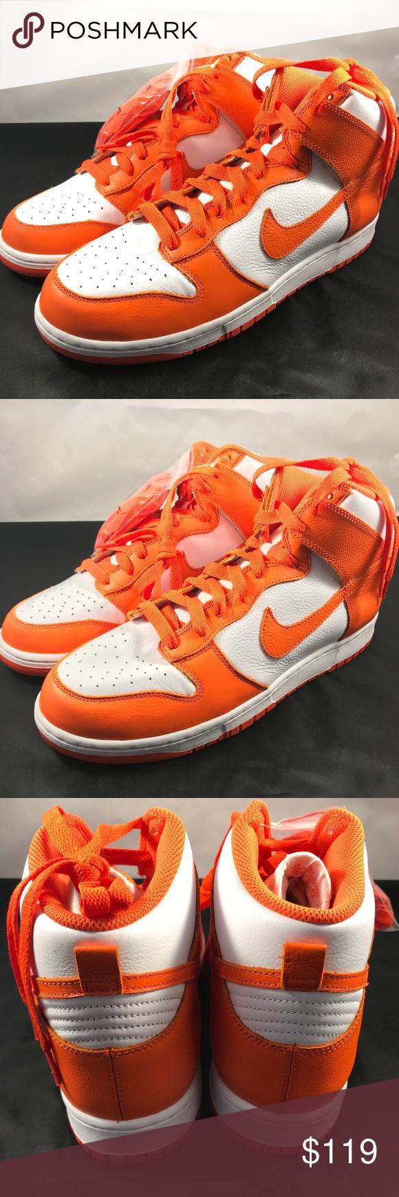 Nike Dunk Retro Qs 850477 101 White Orange Blaze Nike Dunk Retro Qs 850477 101 White Orange Blaze Brand New Syracuse Orangemen Co Nike Dunks Nike Sneakers Nike