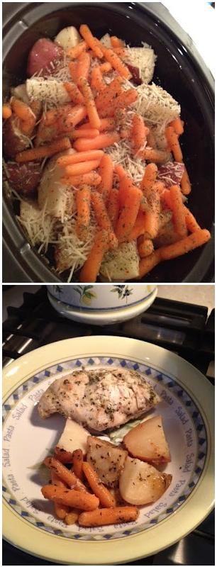 Italian Crockpot Chicken Chicken Breast Toped With Italian