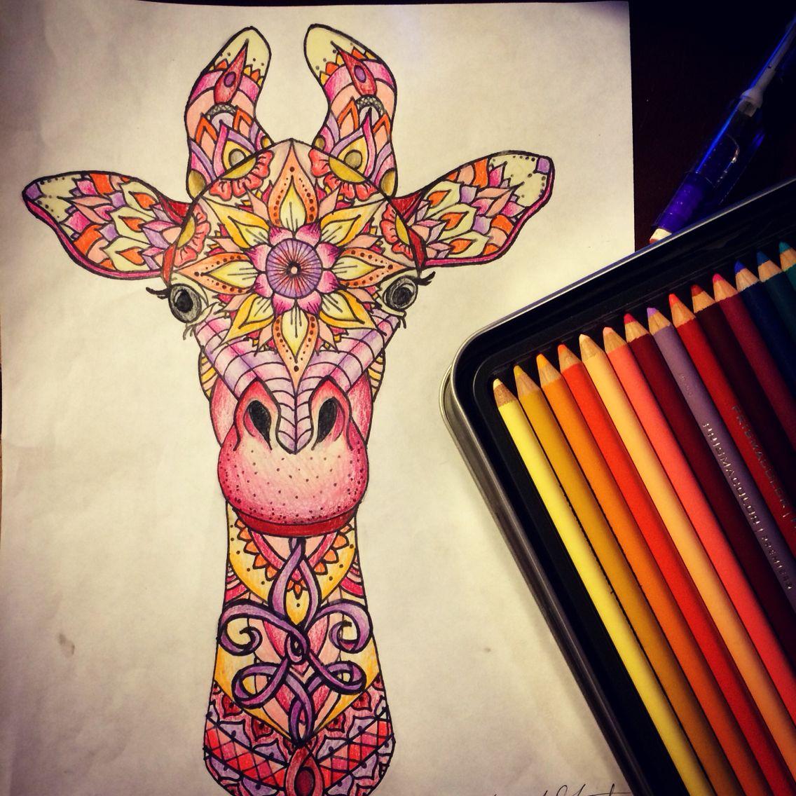 Giraffe Mandala My Drawings