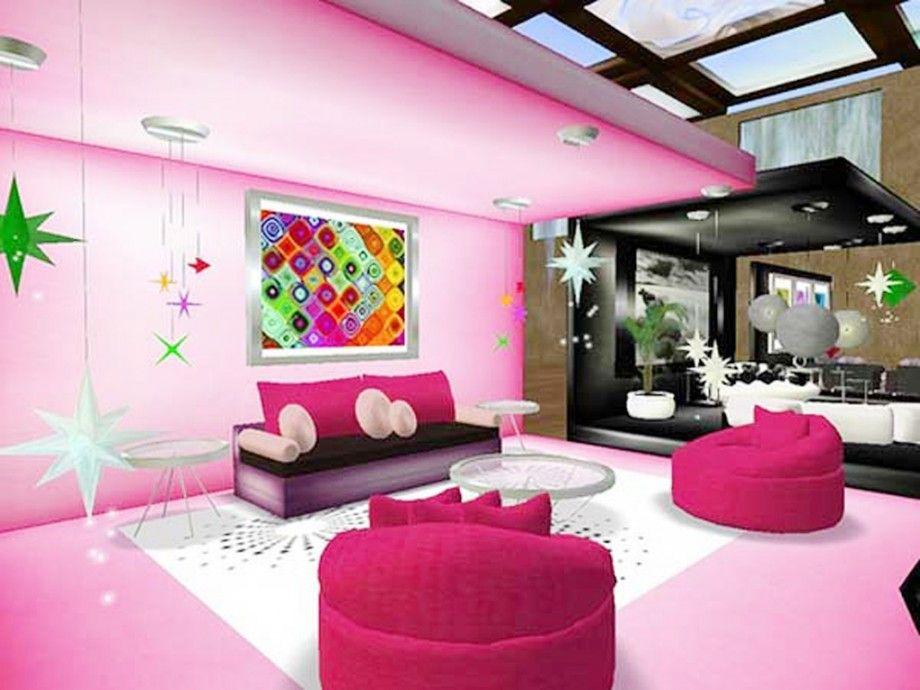 Living Room Pink House Decorating Lighting | living room | Pinterest ...