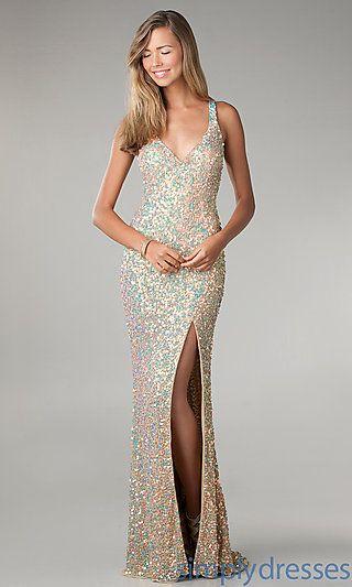 21d53b6b Long Sequin Dress by Primavera 9824 at SimplyDresses.com 169 | Semi ...