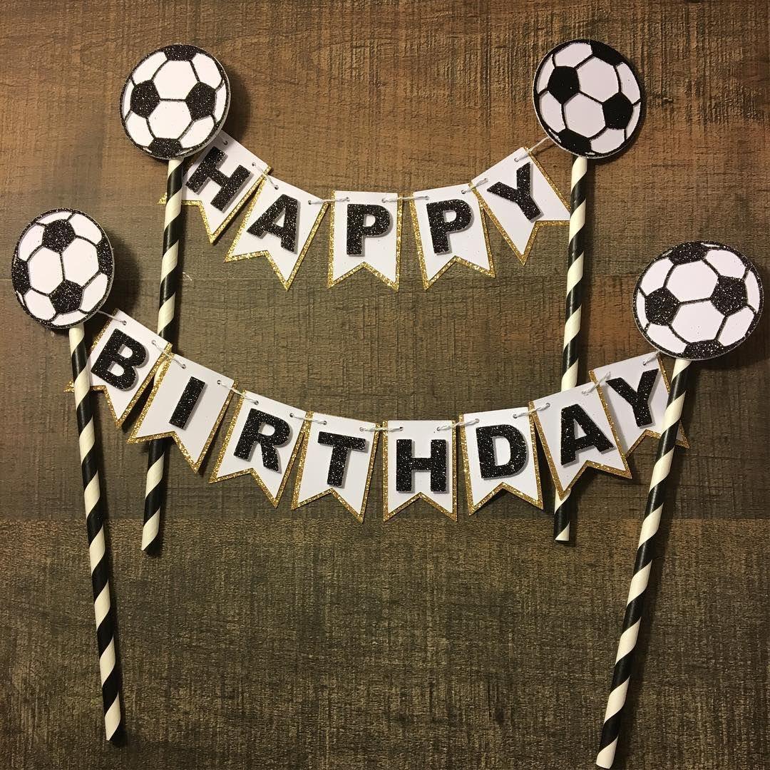 Soccer Cake Topper Soccer Birthdaycake Soccerparty Soccerdecor Etsyshop Soccer Cake Soccer Birthday Parties Soccer Birthday Cakes