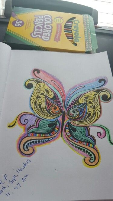 Rainbow Butterfly I Color From The Colorama Coloring Book
