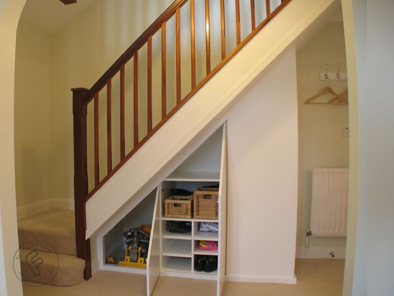 Under Stairs Shelving Unit under stair storage solution - formcreations:made to measure built
