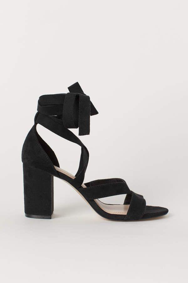 2a557f930a8d H M Sandals - Black