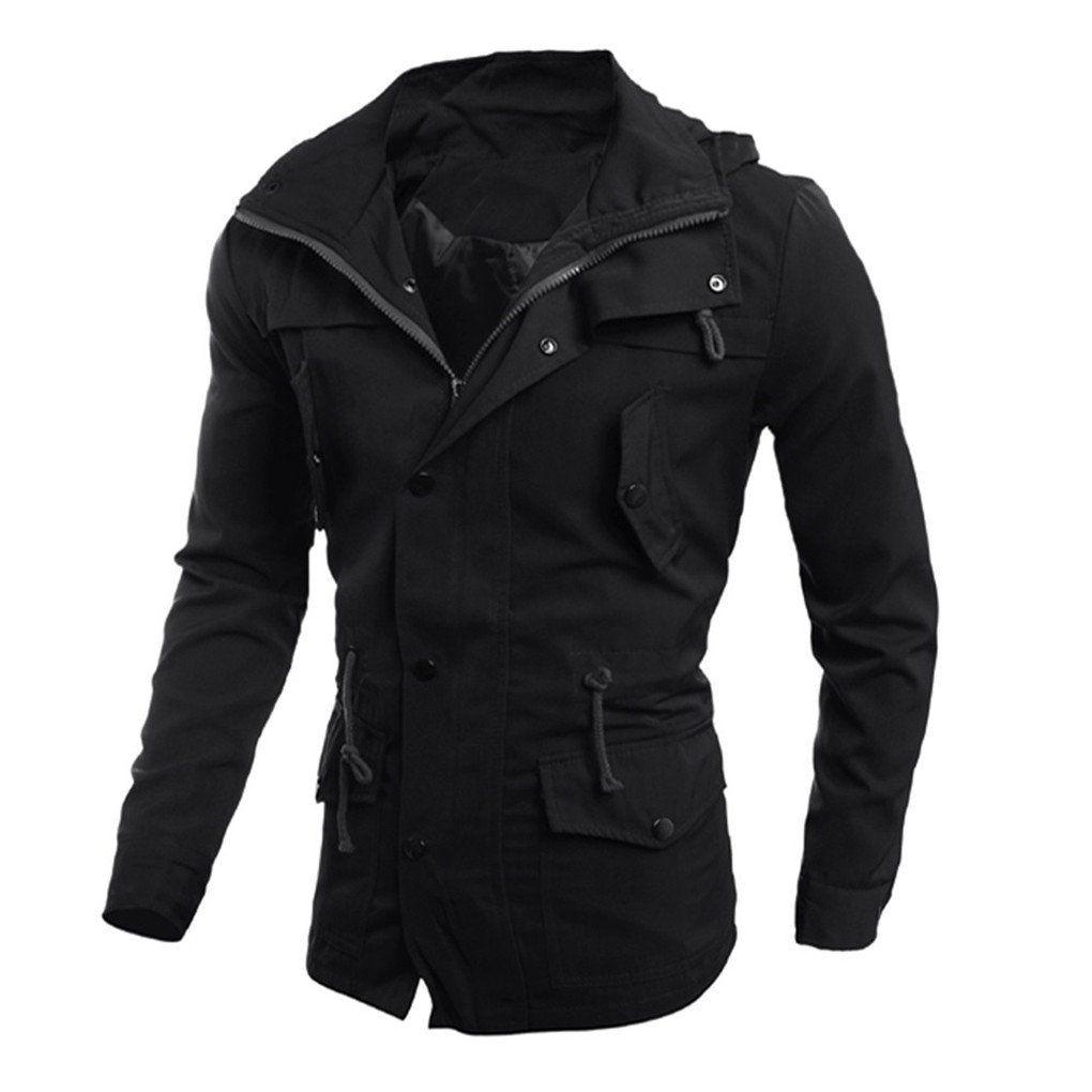 Men Coat,Haoricu Fall Men Fashion Elegant Jacket Casual Coat ...