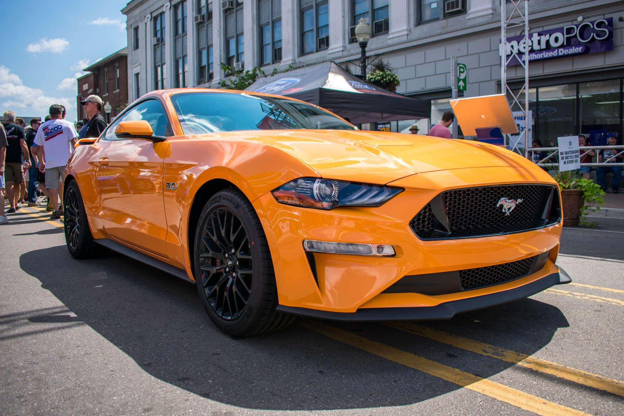2018 mustang orange fury