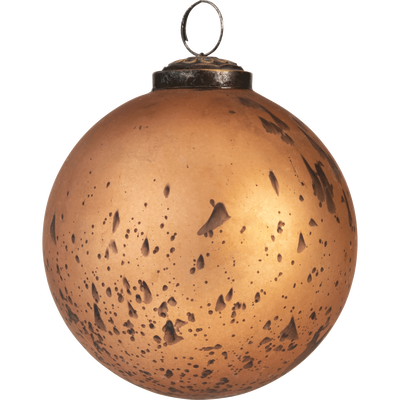 Boule de Noël en verre cuivre D10cm - MELILLA - boules de Noël